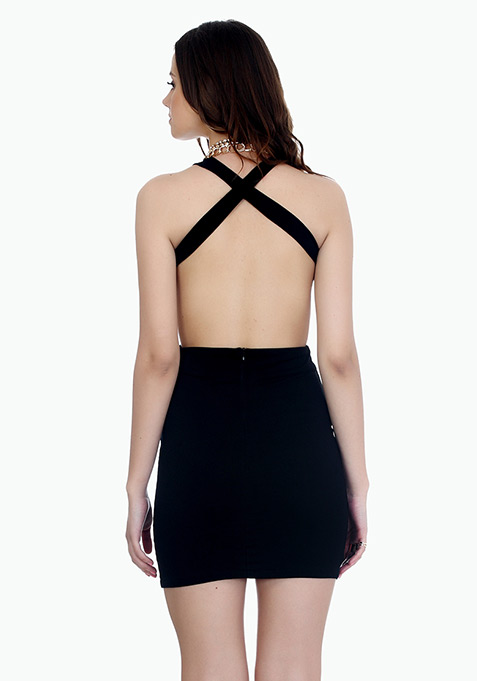About That Back Bodycon Dress - Black