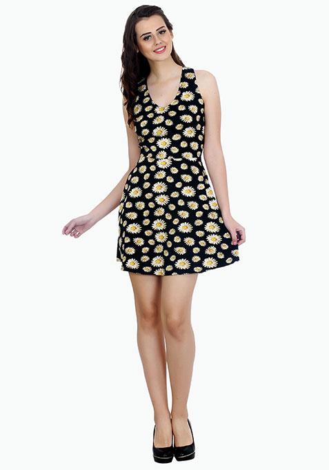 Daisy Blooms Skater Dress