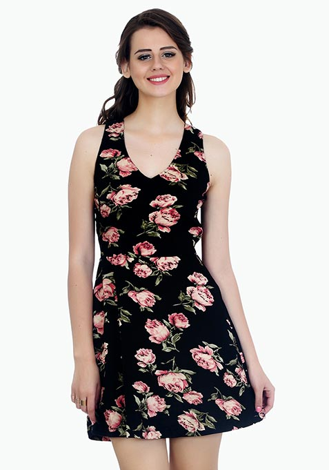 Floral Bloom Skater Dress