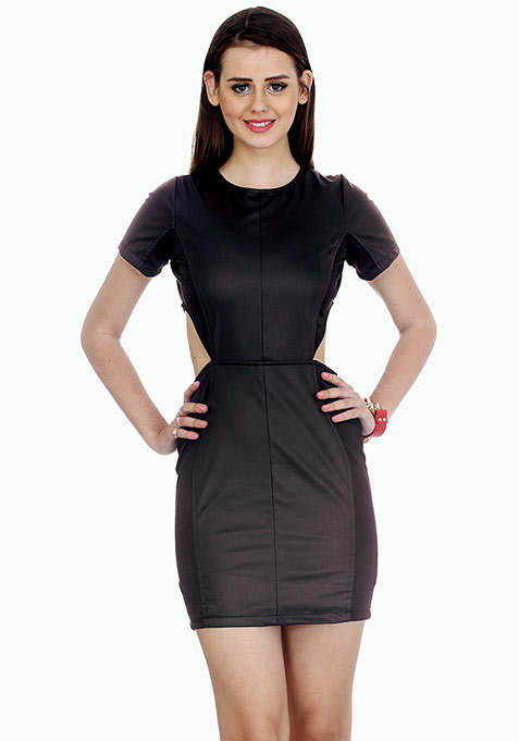 Bad In Black Bodycon Mini Dress