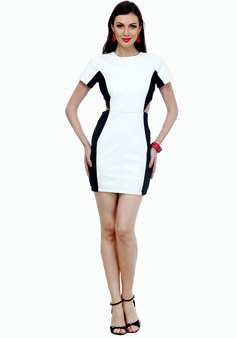 White Out Bodycon Mini Dress