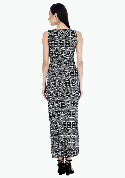 On Fleek Aztec Maxi Dress