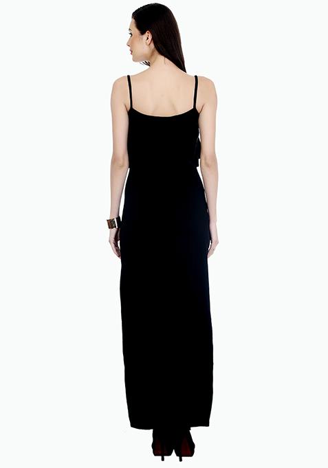 Spring Layers Maxi Dress - Black