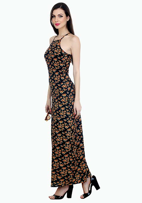 Straps Ahead Maxi Dress - Sunflower