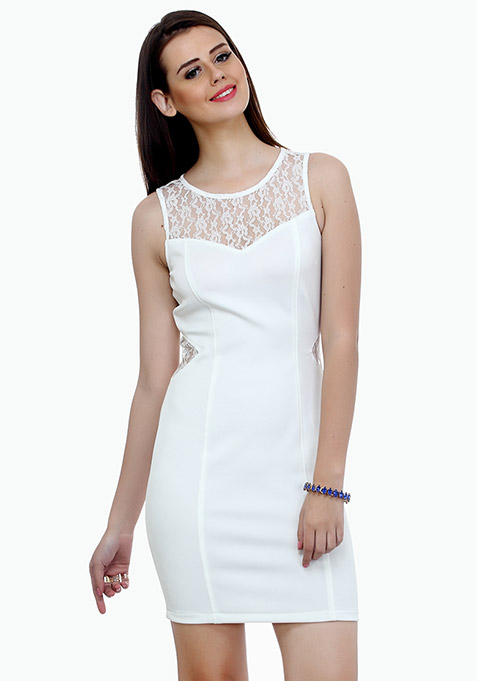 Curvy Dreams Bodycon Dress - White