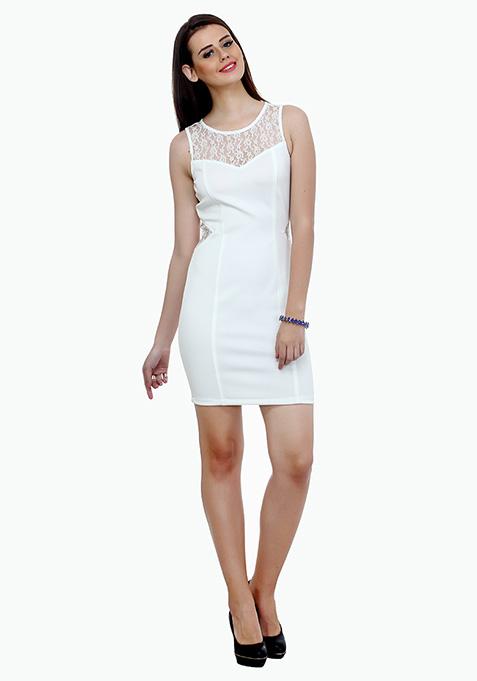 Curvy Dreams Bodycon Dress - White