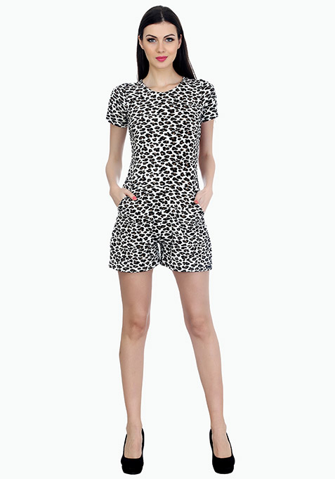 Spring Ahead Leopard Playsuit