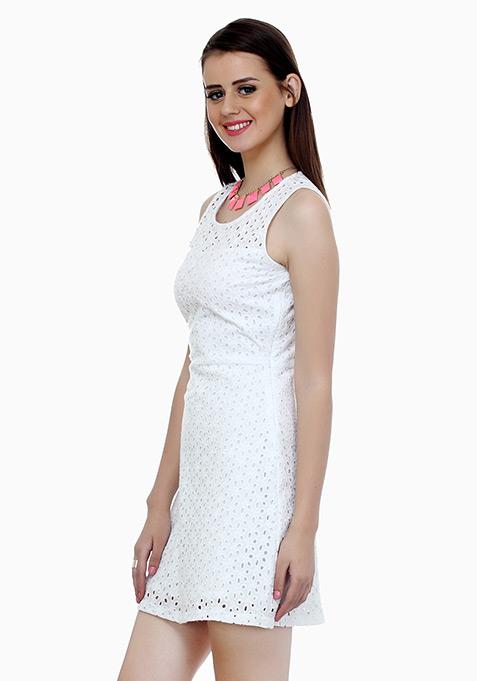 Summer Breeze Skater Dress - White