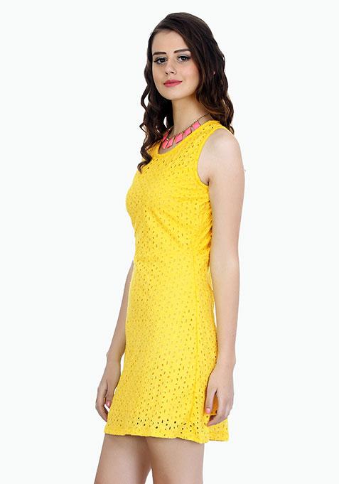 Summer Breeze Skater Dress - Yellow