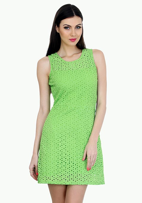 Summer Breeze Skater Dress - Green
