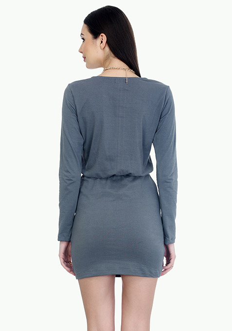 Groovy Grey Bodycon Dress