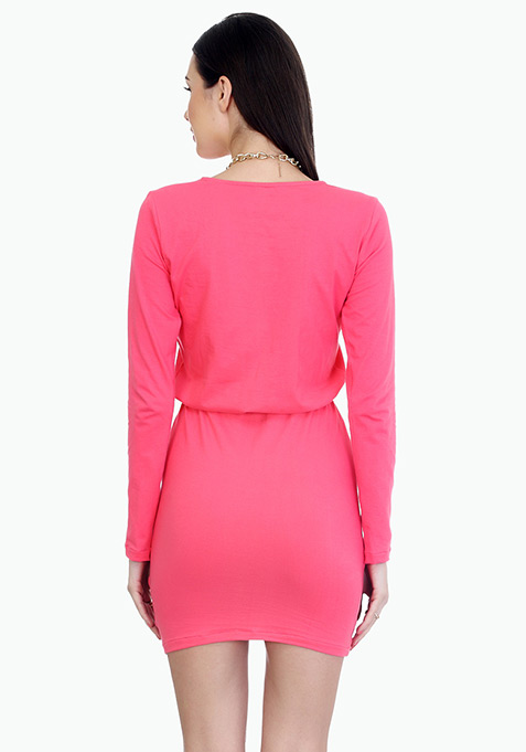 Groovy Pink Bodycon Dress