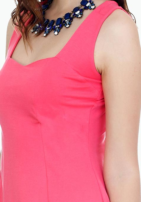 Pink Rush Skater Dress