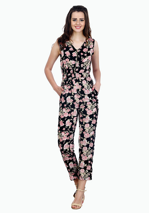 Black Forest Floral Jumpsuit
