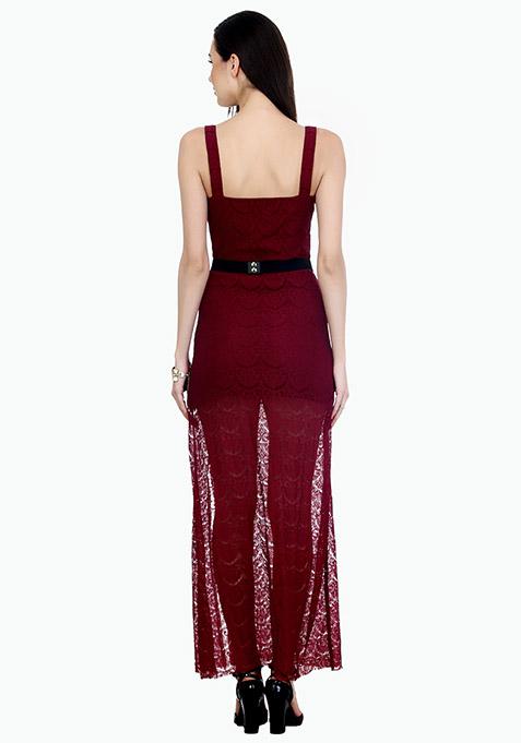 Marsala Night Maxi Dress
