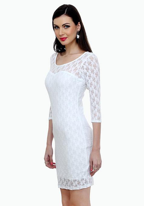 Funky Town Bodycon Dress - White