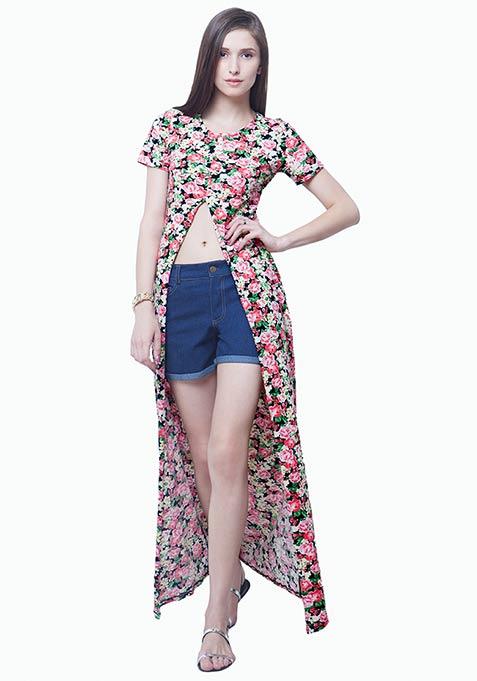 Boho Girl Maxi Tunic - Floral