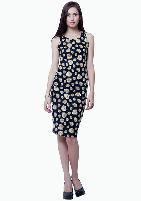 Chill Chick Midi Dress - Daisy