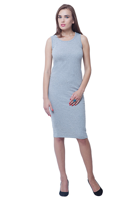 Chill Chick Midi Dress - Grey