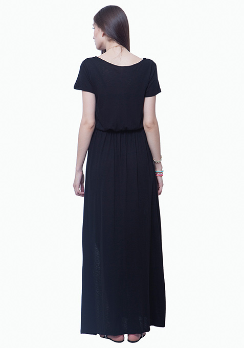 Lounge Girl Maxi Dress - Black