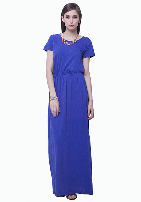 Lounge Girl Maxi Dress - Blue