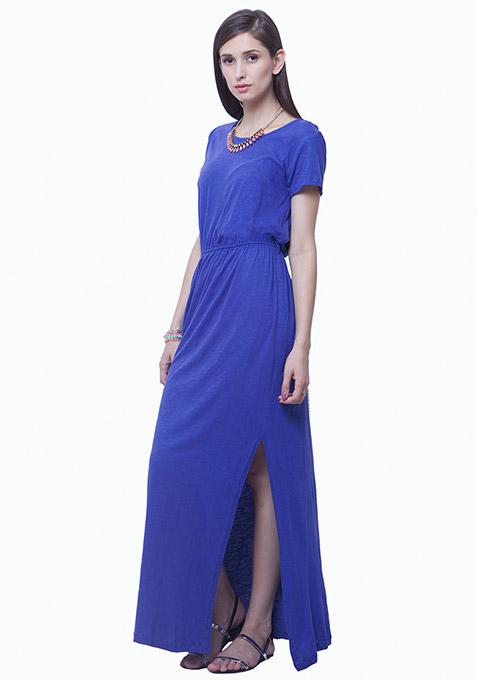 Lounge Girl Maxi Dress - Blue