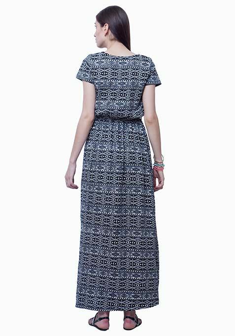 Lounge Girl Maxi Dress - Aztec