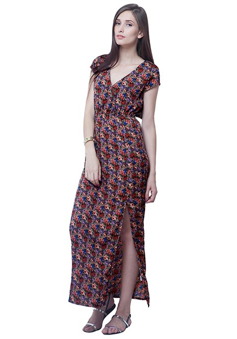 Boho Babe Maxi Dress - Ditsy