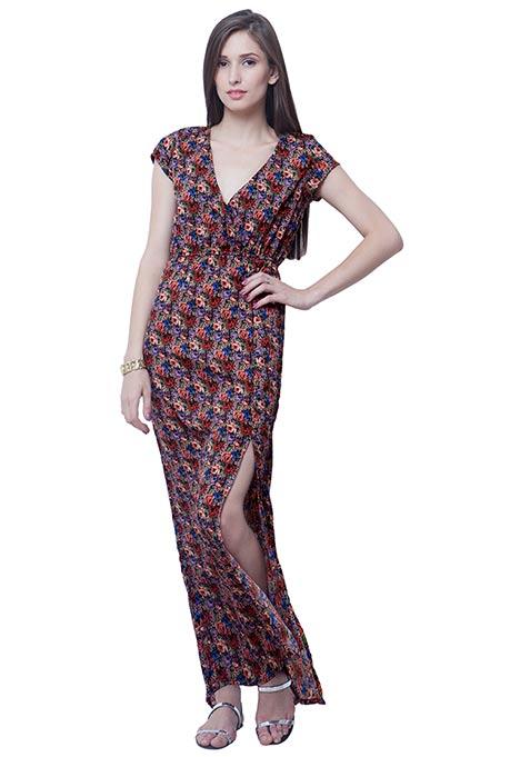 Boho Babe Maxi Dress - Ditsy