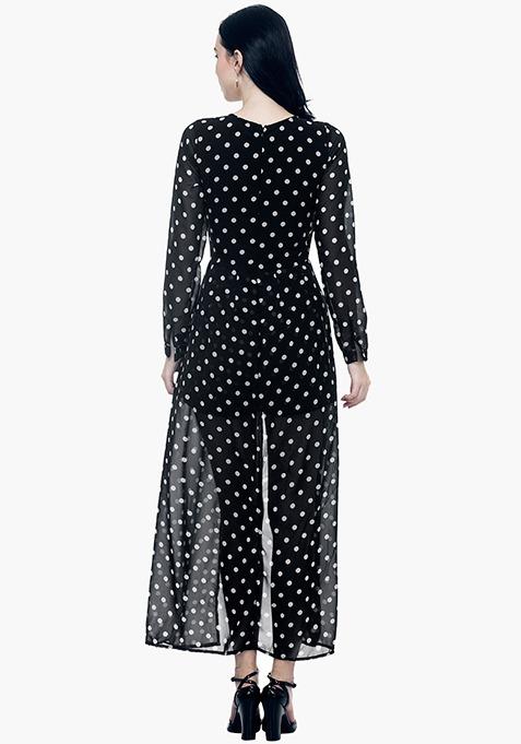 Polka Maxi Playsuit Dress