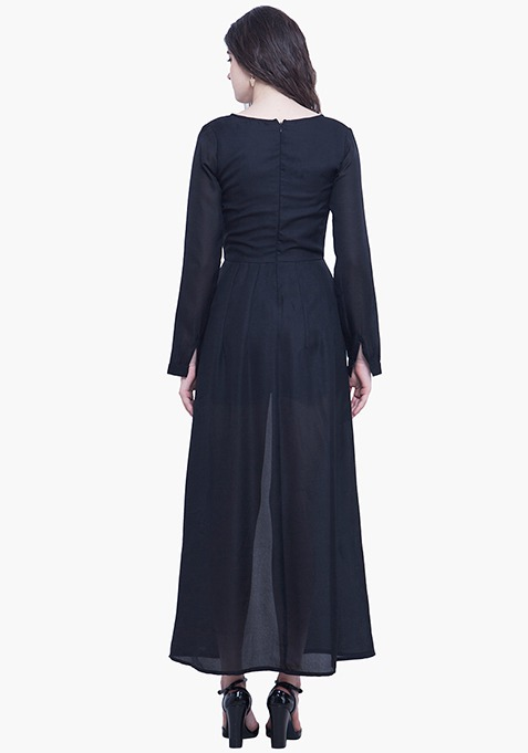Black Maxi Playsuit Dress