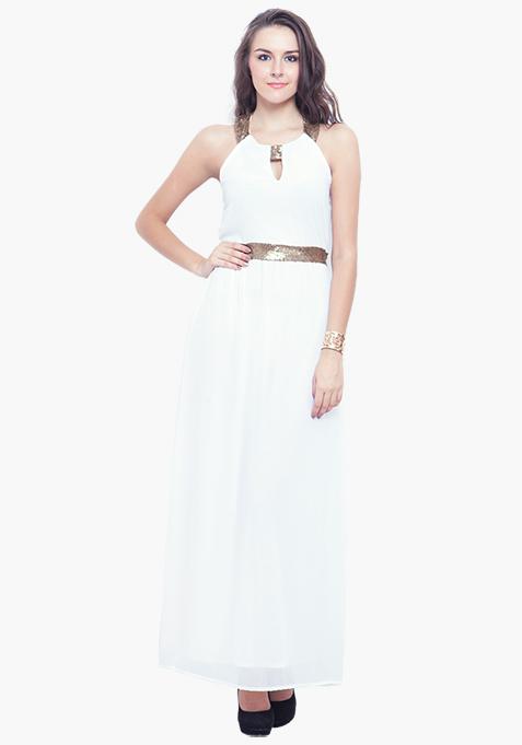 White Goddess Maxi Dress
