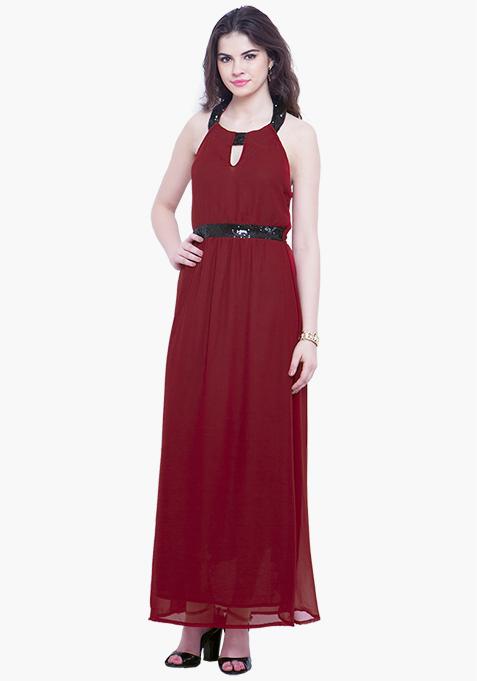 Red Goddess Maxi Dress