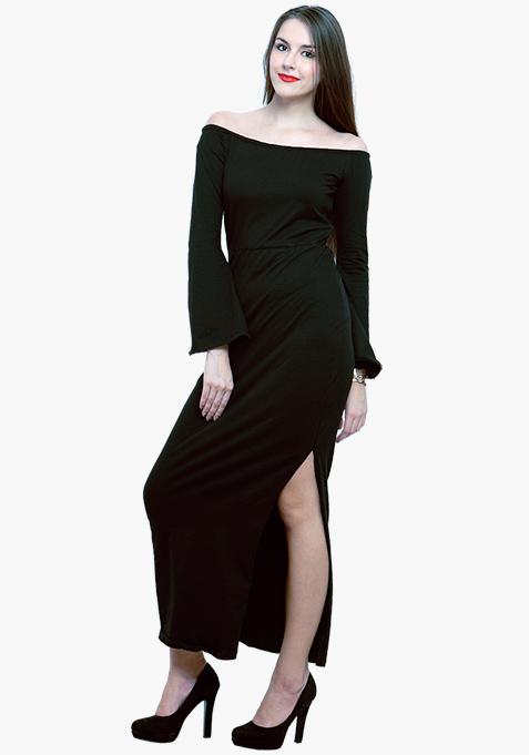Off The Hook Maxi Dress - Black