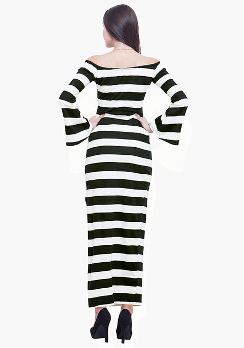 Off The Hook Maxi Dress - Stripe