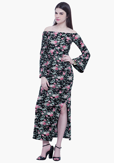 Off The Hook Maxi Dress - Floral