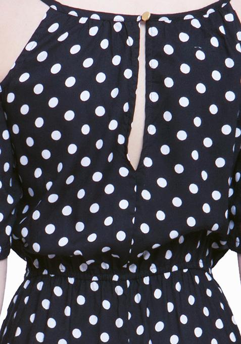 Cold Shoulder Maxi Dress – Polka
