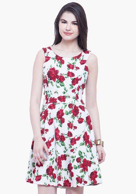 Floral Jersey Skater Dress