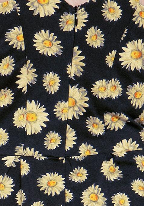 Daisy Dream Jersey Skater Dress