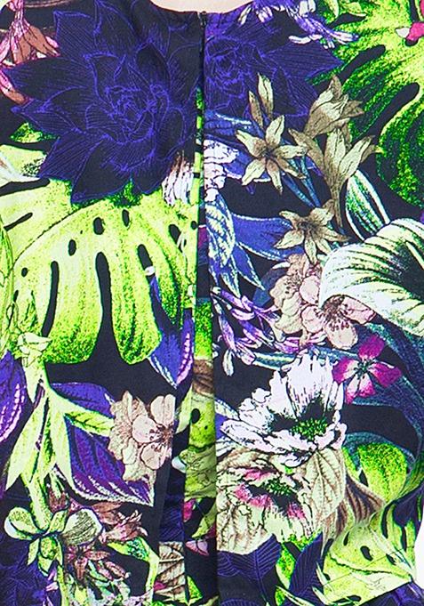 Wild Floral Skater Dress