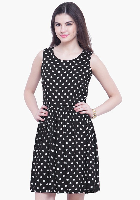 Pep Up Polka Skater Dress