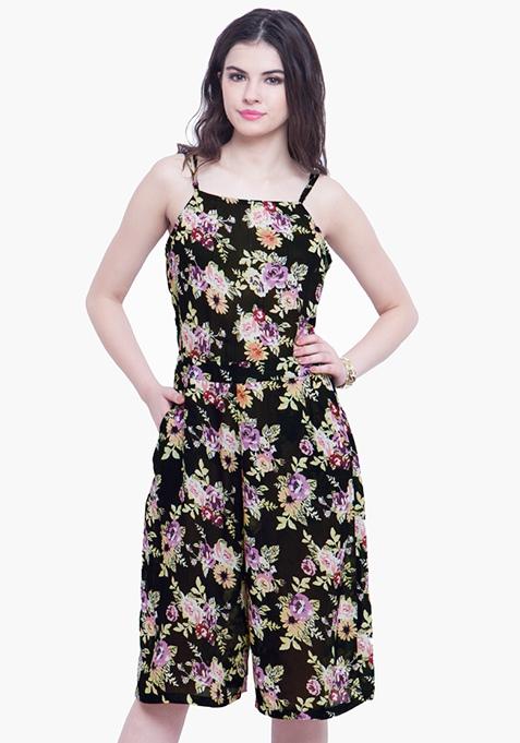 Dusk Floral Culotte Jumpsuit