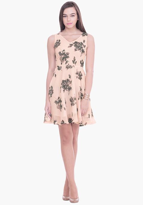 Winter Rose Skater Dress