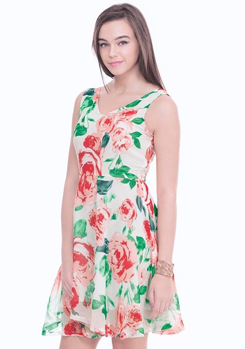 Dreamy Rose Skater Dress
