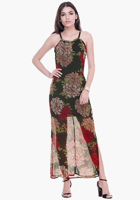 Supesized Floral Maxi Dress