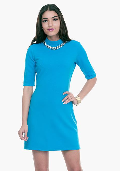 Mod Squad A-Line Dress - Blue