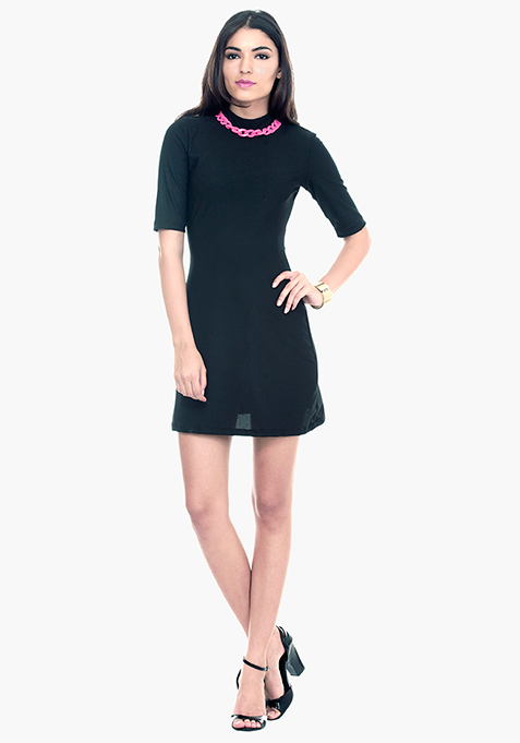 Mod Squad A-Line Dress - Black