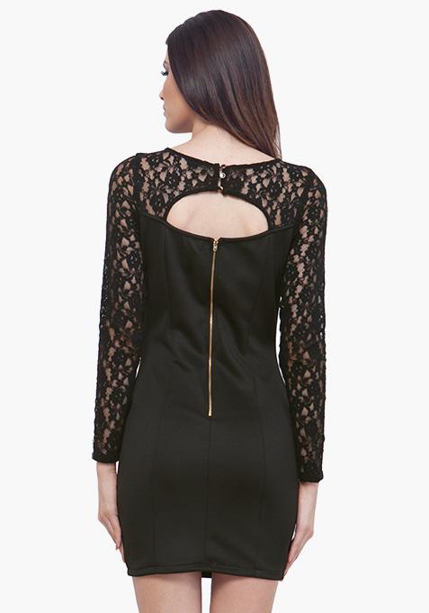 Lace Love Dress - Black
