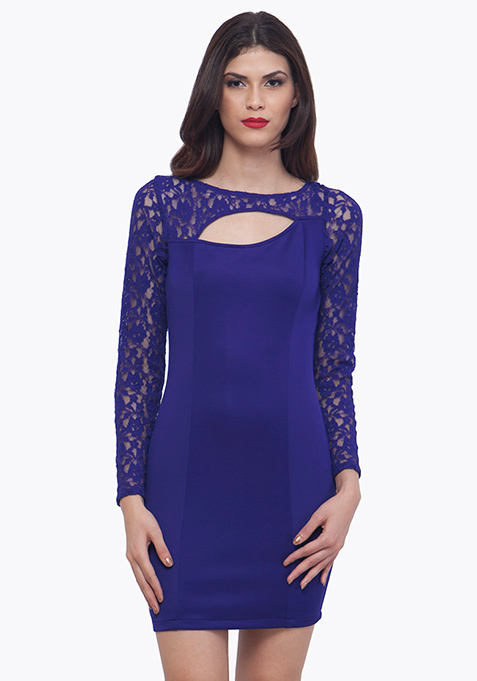 Lace Love Dress - Blue