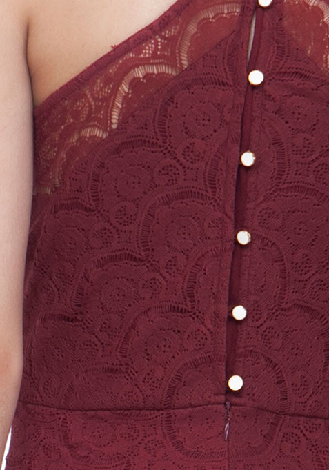 Oxblood Oomph Halter Dress